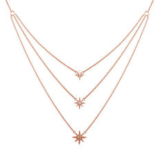 0.04 CTW Chocolate Diamond Little Star Necklace 14K Rose Gold