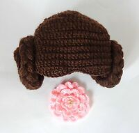 Star War Princess Leia Hat With Flower For Girl Halloween Outfit Cosplay Costume