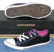 CONVERSE CHUCK TAYLOR CT SLIM DT OX BLACK / PURPLE SIZE 3 MENS 5 WOMENS US