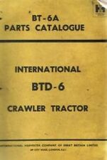 INTERNATIONAL CRAWLER TRACTOR BTD6 PARTS MANUAL