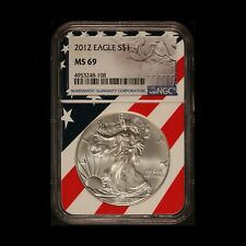 2012 $1 American Silver Eagle NGC MS 69 - Free Shipping USA
