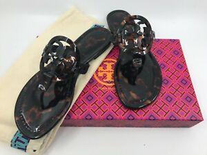 Tory Burch NEW Miller Tortoise Logo Flat Sandals MANY SIZES