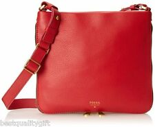 NEW FOSSIL RUBY WINE RED PRESTON SOFT LEATHER CROSSBODY,HAND+SHOULDER BAG,ZB5940