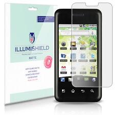 iLLumiShield Matte Screen Protector w Anti-Glare/Print 3x for LG Optimus Chic