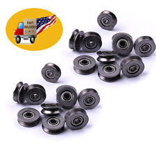 20pcs Metal Sealed Guide Wire Line Track Deep V Groove Pulley Rail Ball Bearing