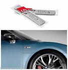 Coppia Stemma 2x Logo AUDI S-Line A1 A3 A4 A6 R8 S4 TT A8 RS EMBLEMA adesivo 3M