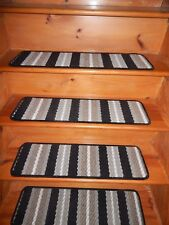 """13 Step 9"""" x 30"""" + Landing 24"""" X 30"""" In/Outdoor Stair Treads Rubber Back Carpet"""