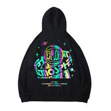 Men's Pullover Hoodies Sweatshirt Hooded Hip Hop Music Festival Laser Reflective