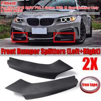 2x Stoßstange Spoiler Splitter Flaps Schwarz für BMW F22 220i 228i M235i