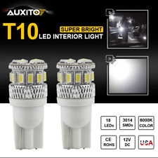 2X Super White 18 Smd Led Interior Map Dome License Lamp T10 194 168 2825 Light(Fits: Neon)