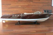 Maquette Riva Aquarama Lamborghini 90 cm Modelisme Motorisable Wooden Model Boat