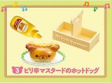 Re-ment San-X Rilakkuma Maku Maku Breakfast Hamburger Shop Cafe Hot dog - No.3