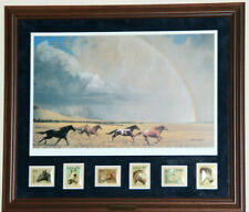 Bob Peters Flying Colors Lithograph Hand Signed and Auto Signed Framed & Matted