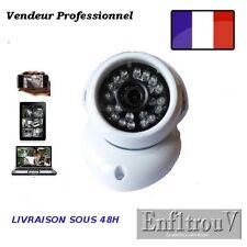 Caméra IP HD 720P, mini dôme, vue de nuit 20m