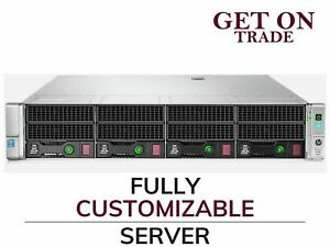 HP DL380 Gen9 4 LFF Server 2x E5-2640 v3 16 Cores Total - 128GB DDR4 RAM