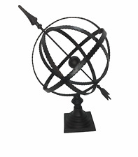 Large 19 inch Matte Bronze Arrow Armillary Sphere Home or Office Decor