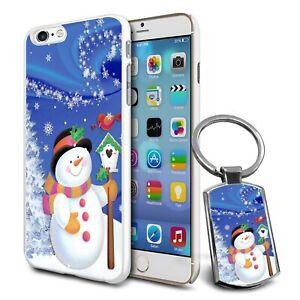 Snowman Christmas Design Hard Case Cover For Apple Samsung & Keyring Gift - 43