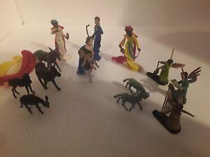 Vintage xmas decoration nativity toys
