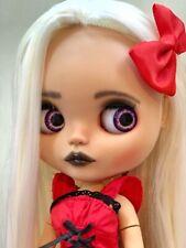 Ooak Custom Blythe Doll Gothic Halloween Ava