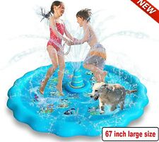For Kids Outdoor Water Play Mat with Sandbags Fun Game Splash Pad Sprinkler Pool