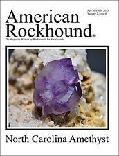 American Rockhound Magazine, Volume 2, Issue 6, NC Amethyst! CD PDF FILE