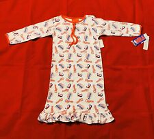 New Reebok NBA Los Angeles Clippers Girls White Logo Pajamas Nightgown Size 2T