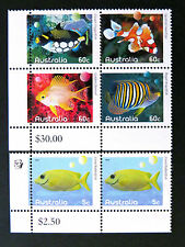 Australian Decimal Stamps: 2010 Fishes of the Reef - Part 1 - Set of 6 MNH