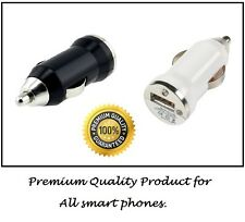 New USB In Car Charger plug Adaptor Bullet Lighter For SONY NOKIA HTC all White