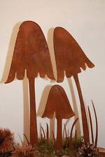 Edelrost Pilze, Dekoration Ideen für den Herbst aus Metall von Rostikal