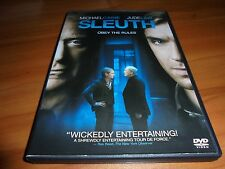 Sleuth (DVD, Widescreen 2008) Michael Caine, Jude Law Used