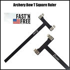 Archery Bow T Square Ruler Measurement Tool for Recurve & Compound Bow Black