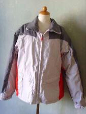 BURTON Jacke Snowboardjacke Skijacke grau weiss rot   Größe 40 L   TOP (T72J) *