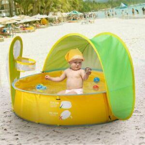 Swimming Pool for Kids Foldable Ball Pool Tent Sunshelter Children Small House T