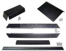 Club Car DS Golf Cart (Black) Diamond Plate Accessory Kit w/ Full Rockers 82-up