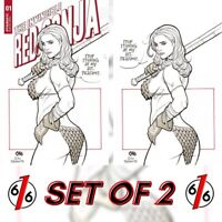 🚨🔥🗡 INVINCIBLE RED SONJA #1 FRANK CHO Variant Set Of 2 Cover D & 1:20 Virgin
