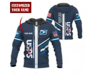 United States Postal Service USPS Custom Embroidered Hoodie, USPS 3D All Over