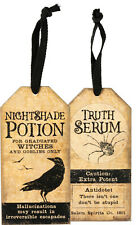 Double-Sided Bottle Tag: Nightshade Potion & Truth Serum (Halloween Ornament)