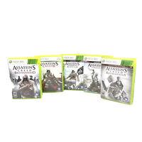Assassins Creed Lot 5 Xbox 360 Black Flag Brotherhood Revelations II III Tested