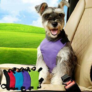 Pets Adjustable Safety Vest Dual-use Automobile Dog Car Safety Seat Belt Harness