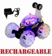 RECHARGEABLE Turbo 360 Twister RC Radio Remote Control Stunt Car Flashing Light