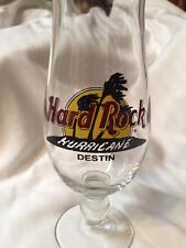 Hard Rock Cafe DESTIN Hurricane Glass Black Double CIRCLE Closed CAFE!