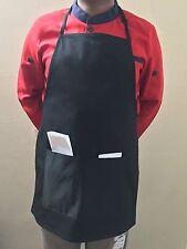 2 Pcs Heavy Duty Chef Full BiB Apron With Two Pockets