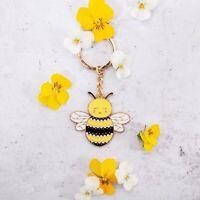 Sass & Belle - Happy Bee Enamel Keyring Cute Gift