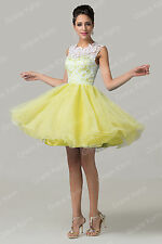 Short Prom Evening Formal Bridesmaid Dresses Lace Gown Party Cocktail Homecoming