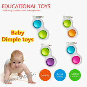 Baby Simple Dimple Sensory Toys, Silicone Flipping Board No harm to children USA