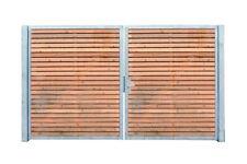 Einfahrtstor Verzinkt Garten Holz-Tor quer Symmetrisch 2-Flügeltor 200cmx180cm