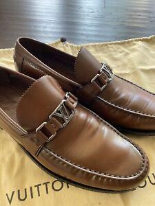 Excellent Authentic Louis Vuitton Men's Major Brown Loafer US 10.5 (LV 9.5)