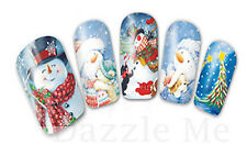 Nail Art Sticker Water Transfer Stickers Snowmen Christmas Xmas Tree (DB231)