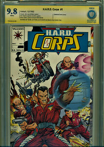 H.A.R.D. CORPS #1 CBCS 9.8 SS SIGNED BY BOB LAYTON-JIM LEE GATEFOLD COVER!