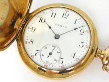 295 15j Pocket Watch 59.0g Antique Gold Filled Elgin Grade